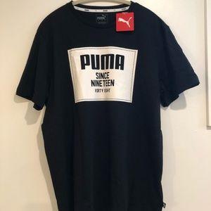 NWT Puma Men's Black Tshirt Large